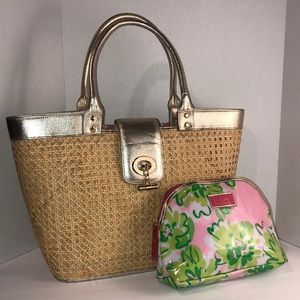 Lily Pulitzer Straw Bag